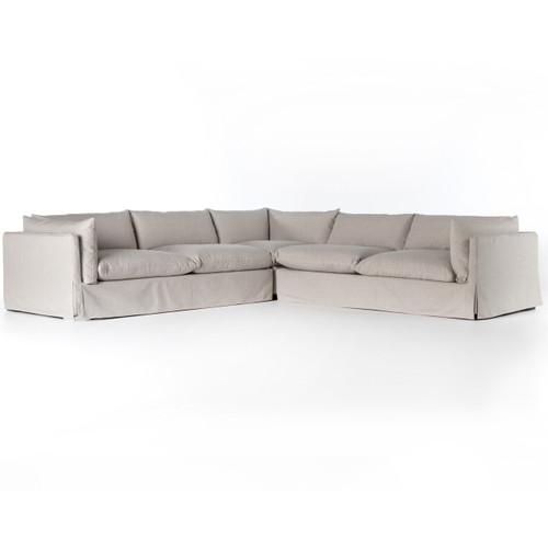 Loft Modern Slipcovered Corner Sectional Sofa