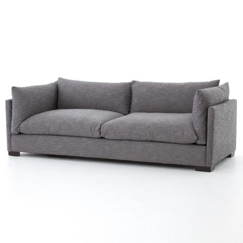 "Westworld Loft Gray Silver Lounge Sofa 90"""