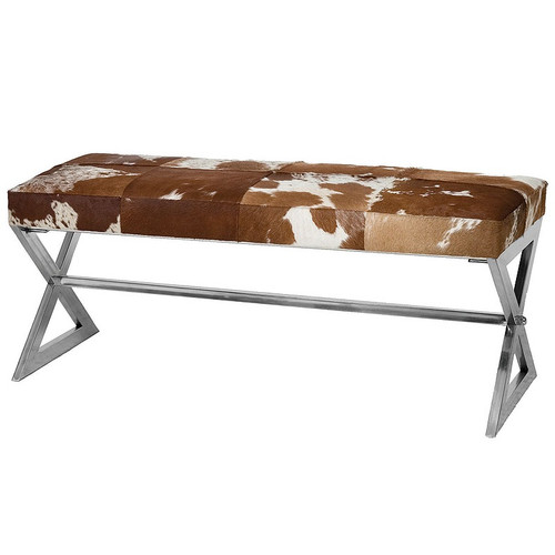 Remington Cow Hide Bench