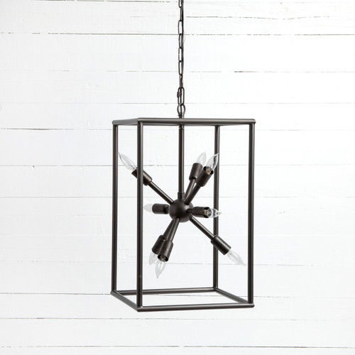 """Sputnik Industrial Caged Tall Chandelier 25"""""""