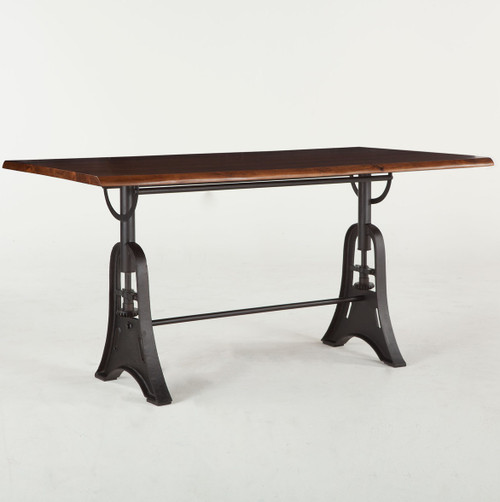 London Live Edge Wood & Cast Iron Counter Table