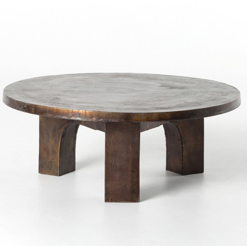 Cruz Round Outdoor Coffee Table - Antique Rust