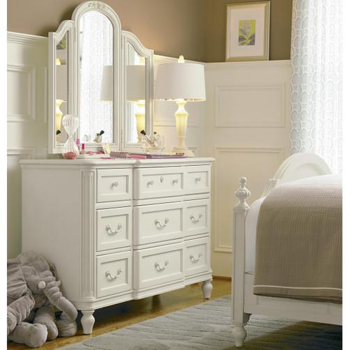 Rosalie Kids Bedroom Vanity Mirror - White | Zin Home