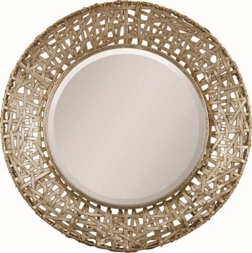 Uttermost Alita Champagne Woven Metal Mirror