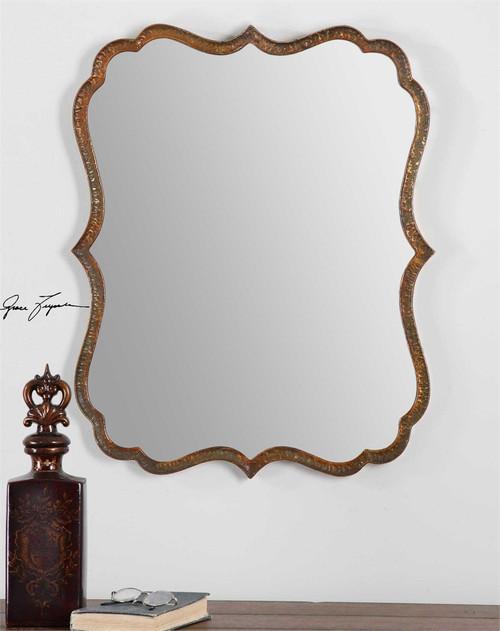 Uttermost Spadola Copper Mirror