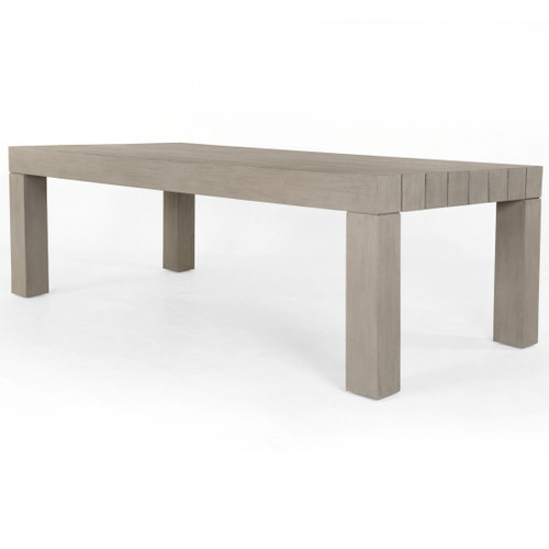 Sonora Grey Teak Wood Outdoor Dining Table 87""