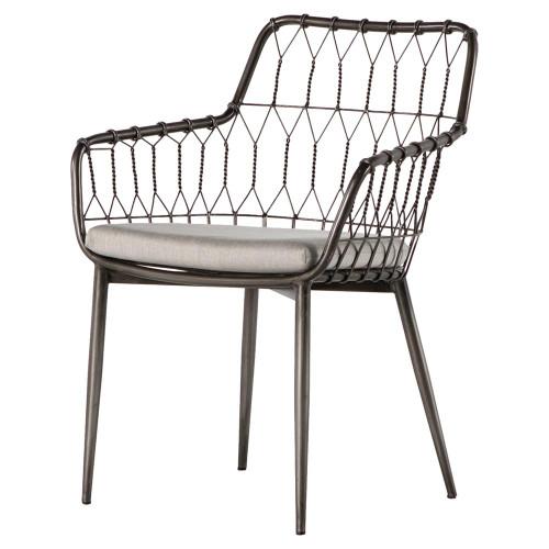 Kade Iron Rattan Outdoor Dining Chair