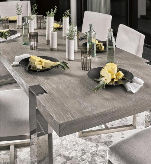 WoodStainless Modern Dining Desmond Steel Extension Table Oak 0XPwOk8n