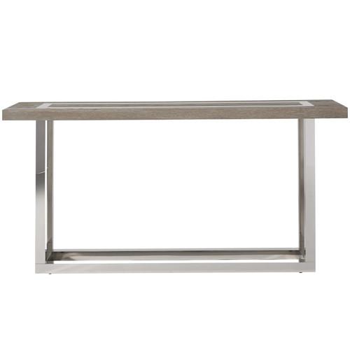 Wyatt Modern Oak Wood + Stainless Steel Console Table