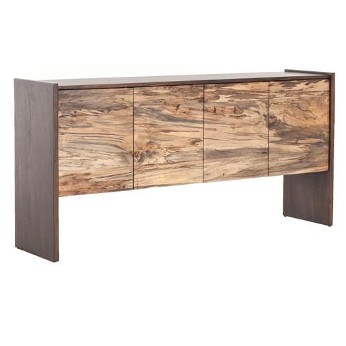 Isla Spalted Primavera Wood 4 Door High Sideboard