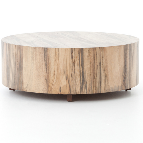 Miraculous Hudson Spalted Rustic Wood Block Round Coffee Table Machost Co Dining Chair Design Ideas Machostcouk