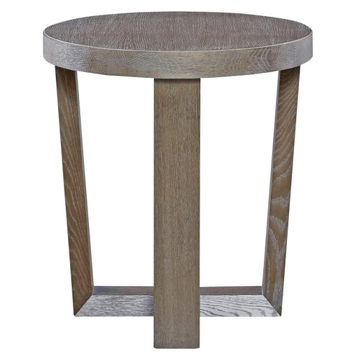 Wilshire Modern Oak Wood Round End Table, 642815