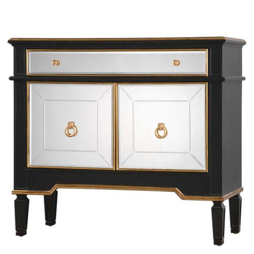 Marciel Gold Mirrored Wine Cabinet