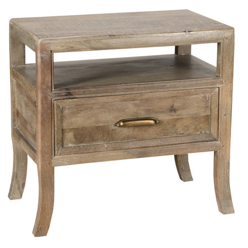 Amelie Solid Wood 1 Drawer Nightstand