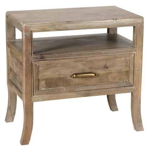 Amelie Solid Wood 1 Drawer Nightstand