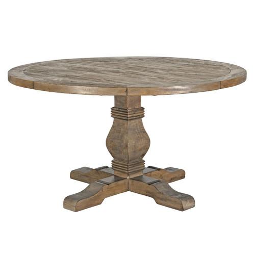 "Farmhouse Reclaimed Wood Pedestal Round Table 55"""