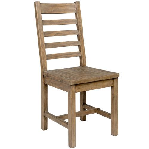 Farmhouse Reclaimed Wood Dining Chair, Ladder Back