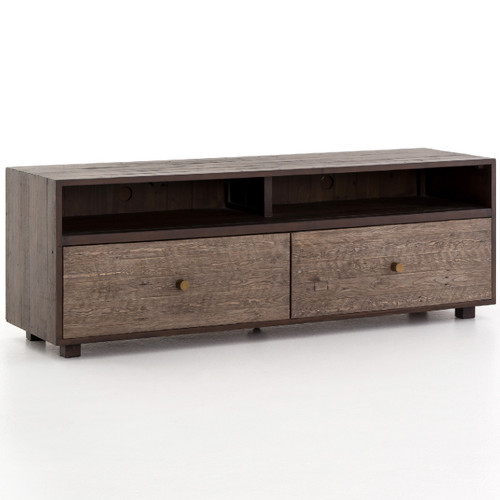 Calais Reclaimed Wood Media Console- Rustic Brown