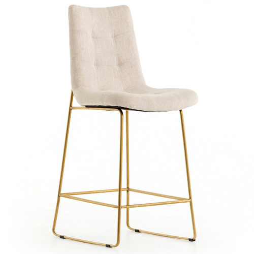 Admirable Camile Gold Iron Leg Counter Stool Savile Flax Gmtry Best Dining Table And Chair Ideas Images Gmtryco