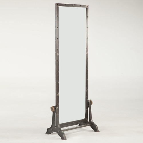 Steampunk Industrial Steel Floor Mirror