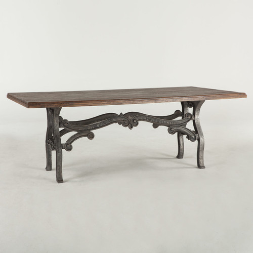 """Hobbs French Industrial Dining Room Table 84"""""""