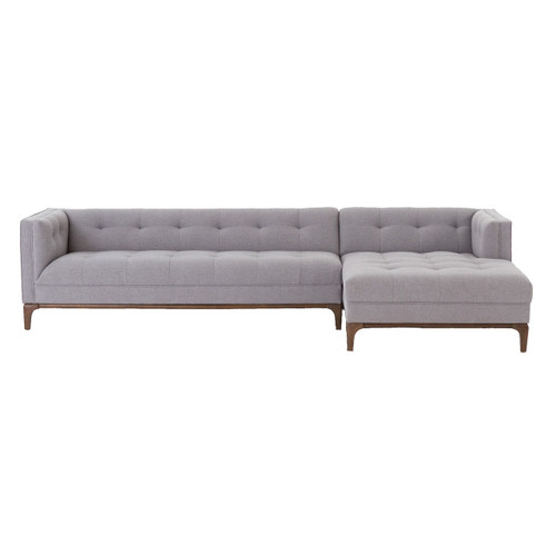 Dylan Mid-Century Modern Tufted 2 Piece Sectional Sofa