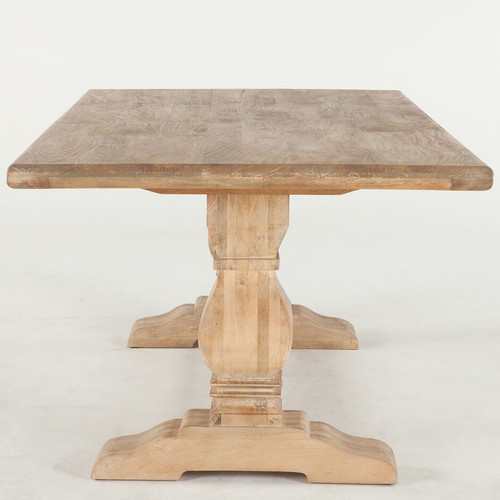 French Farmhouse Solid Wood Trestle Dining Table 108 Zin Home