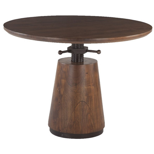 """Industrial Solid Wood Adjustable Pub Table 40"""""""