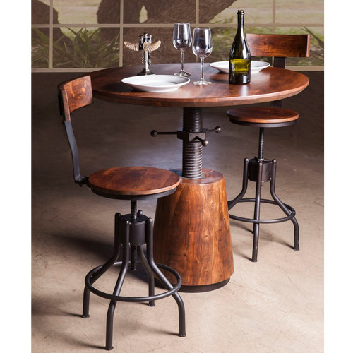Revolve Round Adjustable Height Dining Table 40