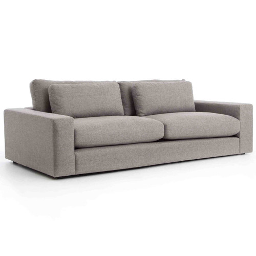 """Bloor Contemporary Gray Fabric Upholstered Sofa 98"""""""