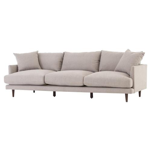 "Asta Modern Scandinavian Beige Cushion Back Sofa 98"""