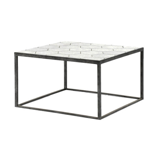 Riley Antiqued Mirror Bunching Coffee Table