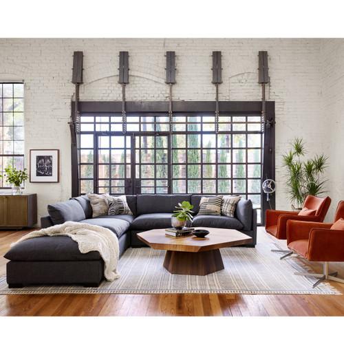 Westworld Modern Gray 5-Piece Modular Lounge Sectional Sofa