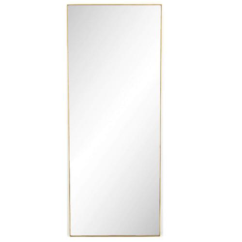 """Bellevue Polished Brass Floor Mirror 80"""""""
