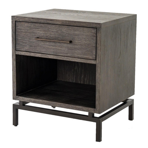 Alexa Industrial Modern Iron & Oak Nightstand