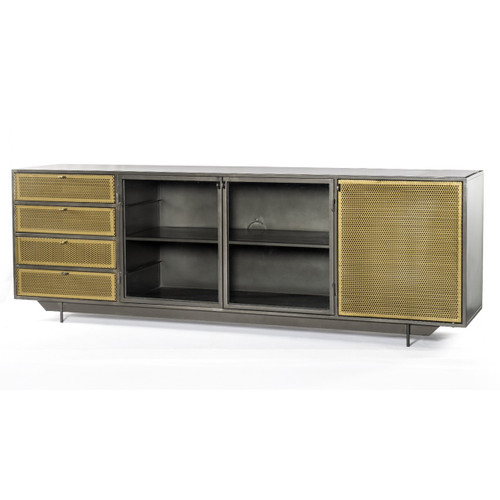 Hendrick Industrial Mesh Tool Chest Media Console 83""