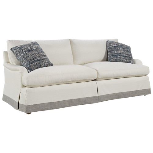 "Carmichael English Rolled Arm Skirted Sofa 89"",777501-615"
