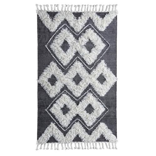 Ivory Moroccan Kilim Shag Area Rugs