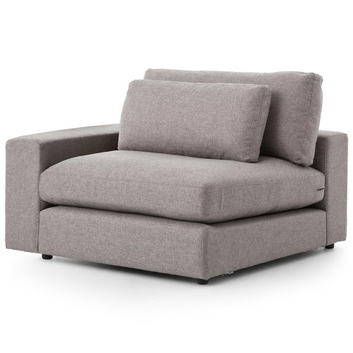 Bloor Modern Gray Left Arm Facing Sectional Chair