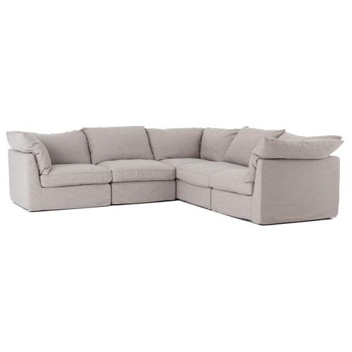 Paul Coastal Neutral L-Shaped Modular Corner Sectional Sofa