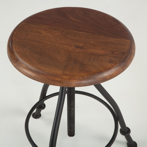 Sensational Steampunk Industrial Wood And Iron Crank Adjustable Stool Inzonedesignstudio Interior Chair Design Inzonedesignstudiocom