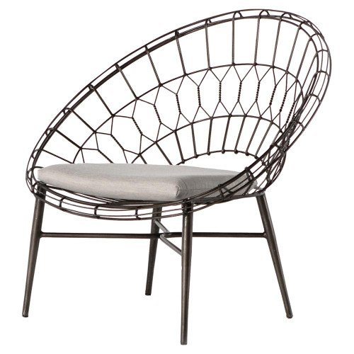 Marquis Metal Wicker Sunburst Outdoor Lounge Chair