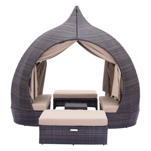 Majorca Brown & Beige Outdoor Daybed Lounge