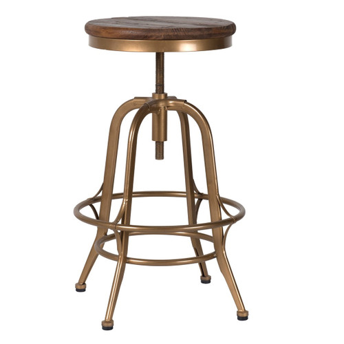 Steampunk Industrial Antique Brass Adjustable Stools