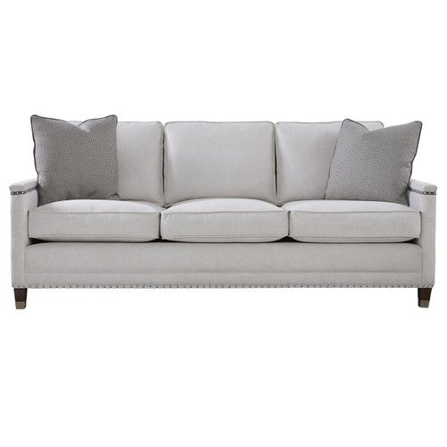 Merrill Upholstered 3-Seat Sofa with Nailheads