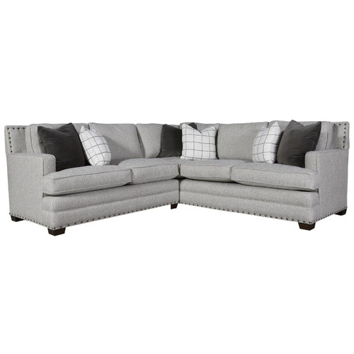 Riley 2-Piece Corner Sectional Sofa with Nailheads 96\