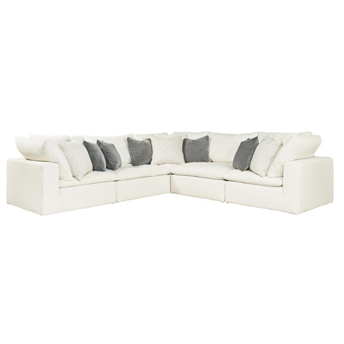 Palmer Coastal Beige 5-Pc Corner Sectional Sofa