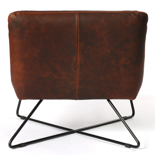 Astonishing District Copper Leather Lounge Chair Andrewgaddart Wooden Chair Designs For Living Room Andrewgaddartcom