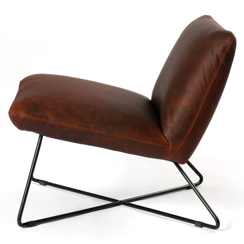 Enjoyable District Copper Leather Lounge Chair Andrewgaddart Wooden Chair Designs For Living Room Andrewgaddartcom