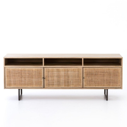 Audrey Woven Cane Media Console 65""